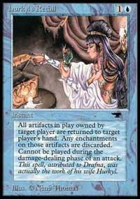 Magic the Gathering Antiquities Single Hurkyl's Recall - SLIGHT PLAY (SP)