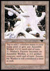 Magic the Gathering Antiquities Single Mishra's Factory (winter) - MODERATE PLAY (MP)