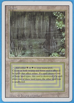 Magic the Gathering 3rd Ed (Revised) Single Bayou MODERATE PLAY (VG/EX)