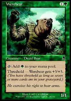 Magic the Gathering Odyssey Single Werebear FOIL
