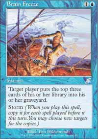 Magic the Gathering Scourge Single Brain Freeze UNPLAYED (NM/MT)