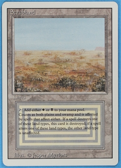 Magic the Gathering 3rd Ed (Revised) Single Scrubland SLIGHT PLAY (SP)
