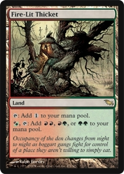 Magic the Gathering Shadowmoor Single Fire-Lit Thicket Foil