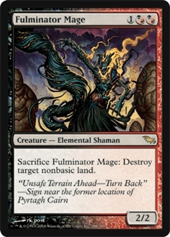 Magic the Gathering Shadowmoor Single Fulminator Mage UNPLAYED (NM/MT)