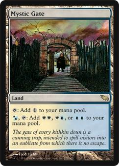Magic the Gathering Shadowmoor Single Mystic Gate Foil - NEAR MINT / SLIGHT PLAY (NM/SP)