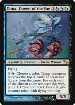Magic the Gathering Shadowmoor Single Oona, Queen of the Fae - NEAR MINT (NM)
