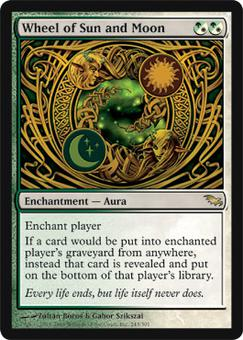Magic the Gathering Shadowmoor Single Wheel of Sun and Moon FOIL