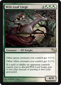 Magic the Gathering Shadowmoor Single Wilt-Leaf Liege FOIL NEAR MINT