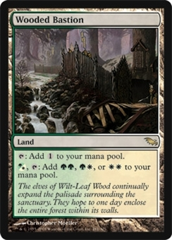 Magic the Gathering Shadowmoor Single Wooded Bastion - NEAR MINT (NM)