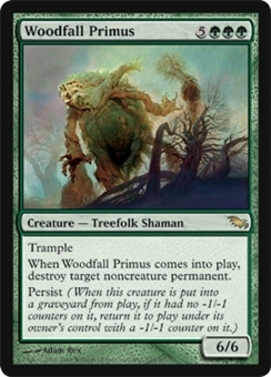Magic the Gathering Shadowmoor Single Woodfall Primus Foil