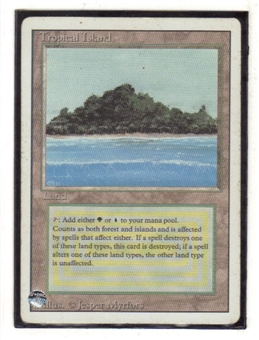 Magic the Gathering 3rd Ed (Revised) Single Tropical Island LIGHT PLAY (NM)