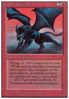 Magic the Gathering Unlimited Single Granite Gargoyle - NEAR MINT (NM)