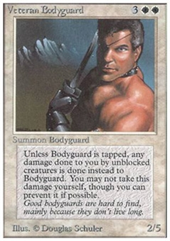 Magic the Gathering Unlimited Single Veteran Bodyguard UNPLAYED (NM/MT)
