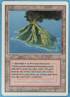 Magic the Gathering 3rd Ed (Revised) Single Volcanic Island LIGHT PLAY (NM)
