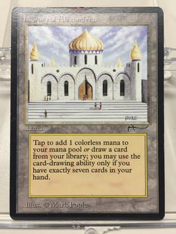 Magic the Gathering Arabian Nights Single Library of Alexandria - SLIGHT PLAY (MINOR INKING)