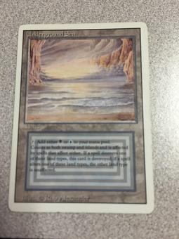 Magic the Gathering Revised Edition Single Underground Sea - SLIGHT / MODERATE PLAY (SP/MP)