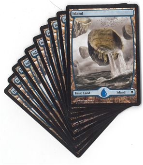 Magic the Gathering Zendikar Basic Islands (Set of 10 - #237) - NEAR MINT (NM)
