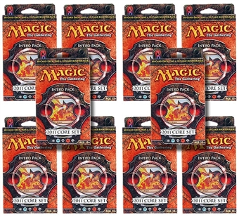 Magic the Gathering 2011 Core Set Intro Pack - Breath of Fire (Lot of 10)