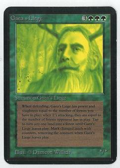 Magic the Gathering Alpha Single Gaea's Liege - SLIGHT PLAY (SP)