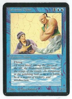 Magic the Gathering Alpha Single Mahamoti Djinn - SLIGHT / MODERATE PLAY (SP-/MP+)