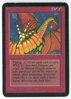 Magic the Gathering Alpha Single Shivan Dragon - SLIGHT / MODERATE PLAY  (SP-/MP+)