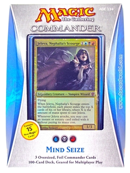 Magic the Gathering Commander Deck (2013) - Mind Seize - TORN PACKAGING