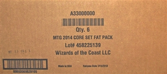 Magic the Gathering 2014 Core Set Fat Pack 6-Box Case