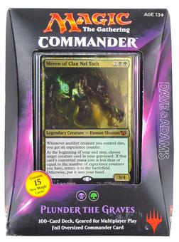 Magic the Gathering Commander Deck (2015) - Plunder the Graves (Black/Green)