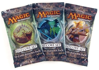 Magic the Gathering 2011 Core Set Booster Pack (Lot of 3)