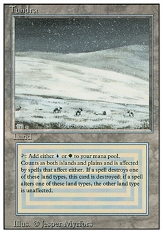 Magic the Gathering Revised Single Tundra - HEAVY PLAY (HP)