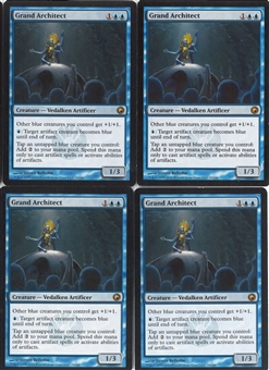 Magic the Gathering Scars of Mirrodin PLAYSET Grand Architect X4 - NEAR MINT (NM)