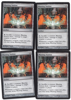 Magic the Gathering Fifth Dawn Single PLAYSET Blasting Station X4 - NEAR MINT (NM)