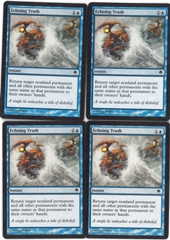 Magic the Gathering Darksteel Single PLAYSET Echoing Truth X4 - NEAR MINT (NM)