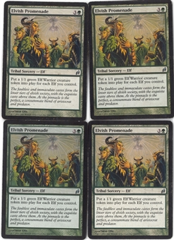 Magic the Gathering Lorwyn PLAYSET Elvish Promenade X4 - SLIGHT PLAY (SP)