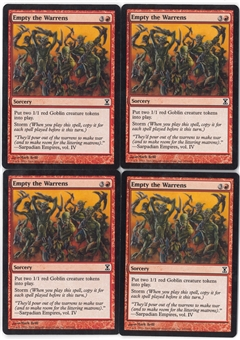 Magic the Gathering Time Spiral PLAYSET Empty the Warrens X4 - NEAR MINT (NM)