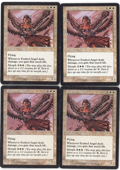 Magic the Gathering Onslaught PLAYSET Exalted Angel X4 - SLIGHT PLAY (SP)