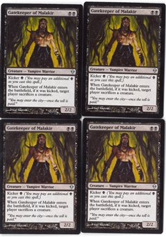 Magic the Gathering Zendikar PLAYSET Gatekeeper of Malakir X4 - NEAR MINT (NM)
