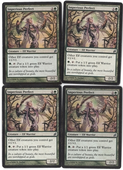 Magic the Gathering Lorwyn PLAYSET Imperious Perfect X4 - SLIGHT PLAY (SP)