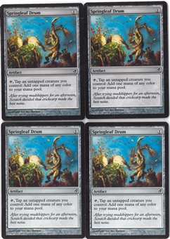 Magic the Gathering Lorwyn PLAYSET Springleaf Drum X4 - NEAR MINT (NM)