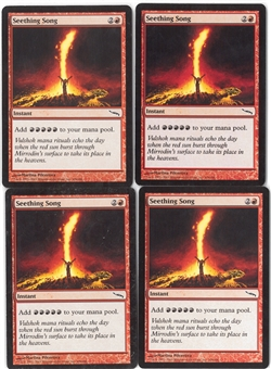 Magic the Gathering Mirrodin PLAYSET Seething Song X4 - NEAR MINT (NM)