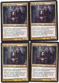 Magic the Gathering Guildpact Single PLAYSET Teysa, Orzhov Scion X4 - SLIGHT PLAY (SP)