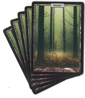 Magic the Gathering Unhinged Single Basic Forest X5 - SLIGHT PLAY (SP)