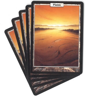 Magic the Gathering Unhinged Single Basic Plains X5 - NEAR MINT / SLIGHT PLAY (NM/SP)