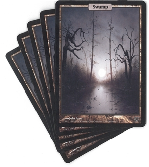 Magic the Gathering Unhinged Single Basic Swamp X5 - SLIGHT PLAY (SP)