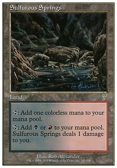 Magic the Gathering 7th Edition Single Sulfurous Springs Foil - SLIGHT PLAY (SP)