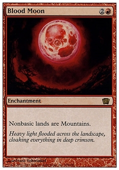 Magic the Gathering 8th Edition Single Blood Moon - MODERATE PLAY (MP)
