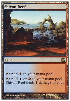 Magic the Gathering 9th Ed. Single Shivan Reef FOIL - MODERATE PLAY (MP)