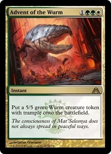 Magic the Gathering Dragon's Maze Single Advent of the Wurm - SLIGHT PLAY (SP)