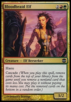 Magic the Gathering Alara Reborn Single Bloodbraid Elf - MODERATE PLAY (MP)