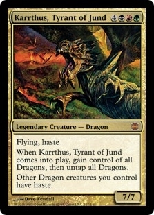 Magic the Gathering Alara Reborn Single Karrthus, Tyrant of Jund - SLIGHT PLAY (SP)